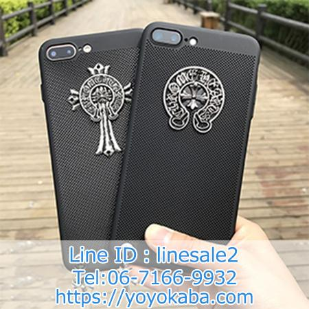 iPhone8ケース Chrome Hearts 通気