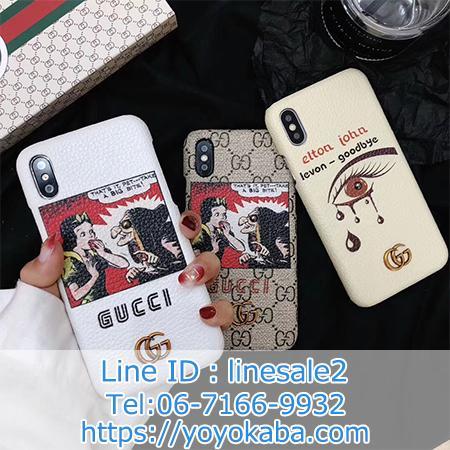 白雪姫プリントGUCCI iphonex ケース ブランド