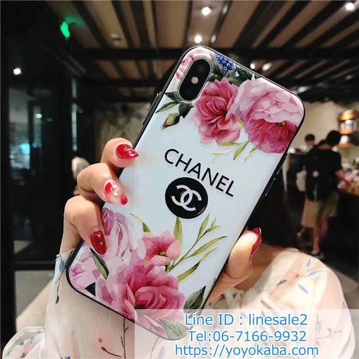 背面花柄 CHANEL iPhoneXS/Xケース