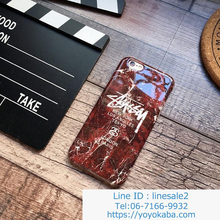 iphoneX/8/7plusソフトケース stussy お洒落